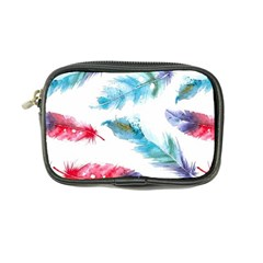 Watercolor Feather Background Coin Purse