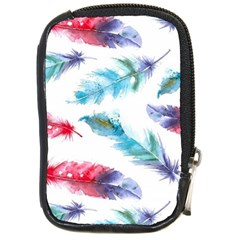 Watercolor Feather Background Compact Camera Cases