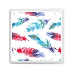Watercolor Feather Background Memory Card Reader (square)