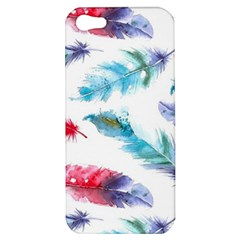 Watercolor Feather Background Apple iPhone 5 Hardshell Case