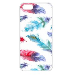 Watercolor Feather Background Apple iPhone 5 Seamless Case (White)