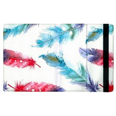 Watercolor Feather Background Apple iPad 3/4 Flip Case