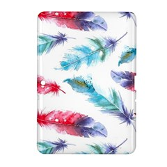 Watercolor Feather Background Samsung Galaxy Tab 2 (10.1 ) P5100 Hardshell Case