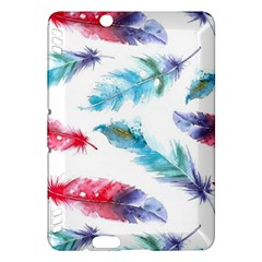 Watercolor Feather Background Kindle Fire HDX Hardshell Case