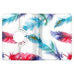Watercolor Feather Background Kindle Fire HDX Flip 360 Case
