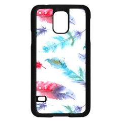 Watercolor Feather Background Samsung Galaxy S5 Case (Black)