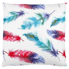 Watercolor Feather Background Standard Flano Cushion Case (Two Sides)