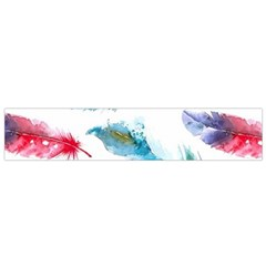 Watercolor Feather Background Flano Scarf (Small)