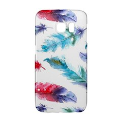 Watercolor Feather Background Galaxy S6 Edge
