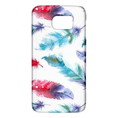 Watercolor Feather Background Galaxy S6