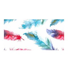 Watercolor Feather Background Satin Wrap
