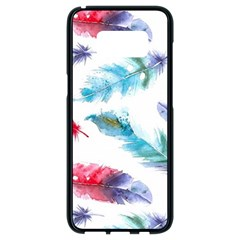 Watercolor Feather Background Samsung Galaxy S8 Black Seamless Case
