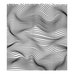 Lines N  Lines Shower Curtain 66  x 72  (Large)
