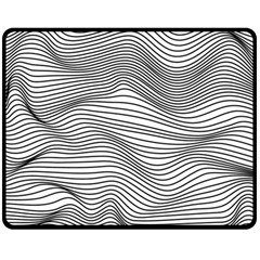 Lines N  Lines Double Sided Fleece Blanket (Medium)