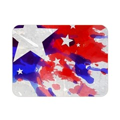 Stars Red Blue Watercolor Double Sided Flano Blanket (Mini)