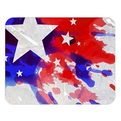 Stars Red Blue Watercolor Double Sided Flano Blanket (Large)