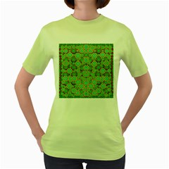 Flowers In Mind In Happy Soft Summer Time Women s Green T-Shirt