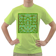 Flowers In Mind In Happy Soft Summer Time Green T Shirt