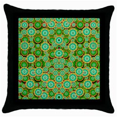 Flowers In Mind In Happy Soft Summer Time Throw Pillow Case (Black)