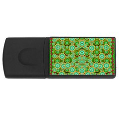 Flowers In Mind In Happy Soft Summer Time USB Flash Drive Rectangular (4 GB)