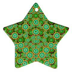 Flowers In Mind In Happy Soft Summer Time Star Ornament (Two Sides)