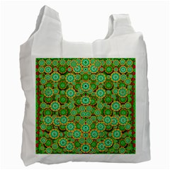 Flowers In Mind In Happy Soft Summer Time Recycle Bag (Two Side)