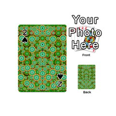 Flowers In Mind In Happy Soft Summer Time Playing Cards 54 (mini)