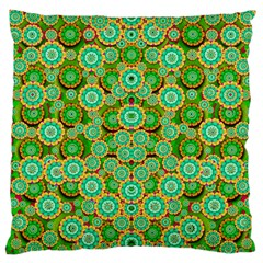 Flowers In Mind In Happy Soft Summer Time Large Cushion Case (Two Sides)