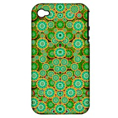 Flowers In Mind In Happy Soft Summer Time Apple Iphone 4/4s Hardshell Case (pc+silicone)