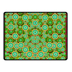 Flowers In Mind In Happy Soft Summer Time Double Sided Fleece Blanket (small)