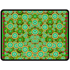 Flowers In Mind In Happy Soft Summer Time Double Sided Fleece Blanket (large)