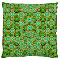 Flowers In Mind In Happy Soft Summer Time Large Flano Cushion Case (Two Sides)