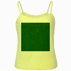 Awesome Allover Stars 01d Yellow Spaghetti Tank
