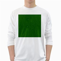 Awesome Allover Stars 01d White Long Sleeve T-Shirts