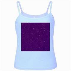 Awesome Allover Stars 01e Baby Blue Spaghetti Tank