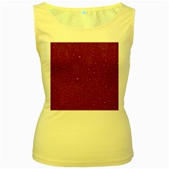 Awesome Allover Stars 01e Women s Yellow Tank Top