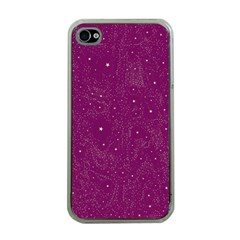 Awesome Allover Stars 01e Apple iPhone 4 Case (Clear)