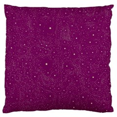 Awesome Allover Stars 01e Large Flano Cushion Case (One Side)
