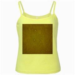 Awesome Allover Stars 01c Yellow Spaghetti Tank