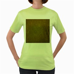 Awesome Allover Stars 01c Women s Green T-Shirt