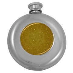 Awesome Allover Stars 01c Round Hip Flask (5 oz)