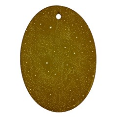 Awesome Allover Stars 01c Oval Ornament (Two Sides)