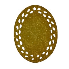 Awesome Allover Stars 01c Oval Filigree Ornament (Two Sides)