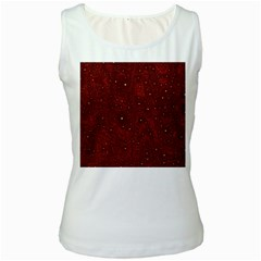 Awesome Allover Stars 01a Women s White Tank Top