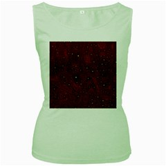 Awesome Allover Stars 01a Women s Green Tank Top