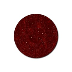 Awesome Allover Stars 01a Rubber Round Coaster (4 pack)