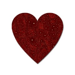 Awesome Allover Stars 01a Heart Magnet