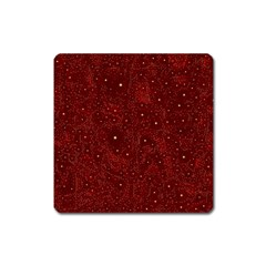 Awesome Allover Stars 01a Square Magnet