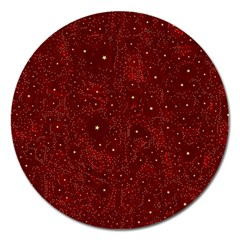 Awesome Allover Stars 01a Magnet 5  (round)