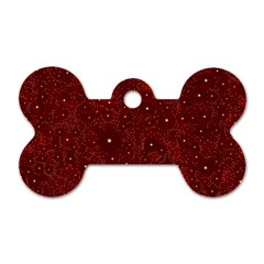 Awesome Allover Stars 01a Dog Tag Bone (Two Sides)